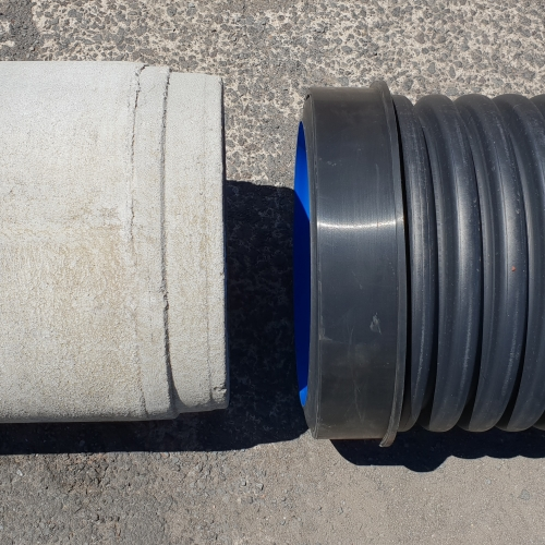 Bush Polypipe to Concrete pipes